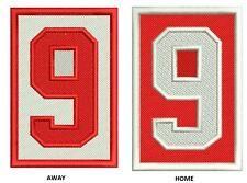 DETROIT RED WINGS MEMORIAL GORDIE HOWE PATCH SET #9 HOME & AWAY JERSEY VERSIONS