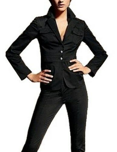 Business Blazer Taille 34,38,40 Nouveau Veste Femmes Noir Veste De Sport Stretch Lavable l32