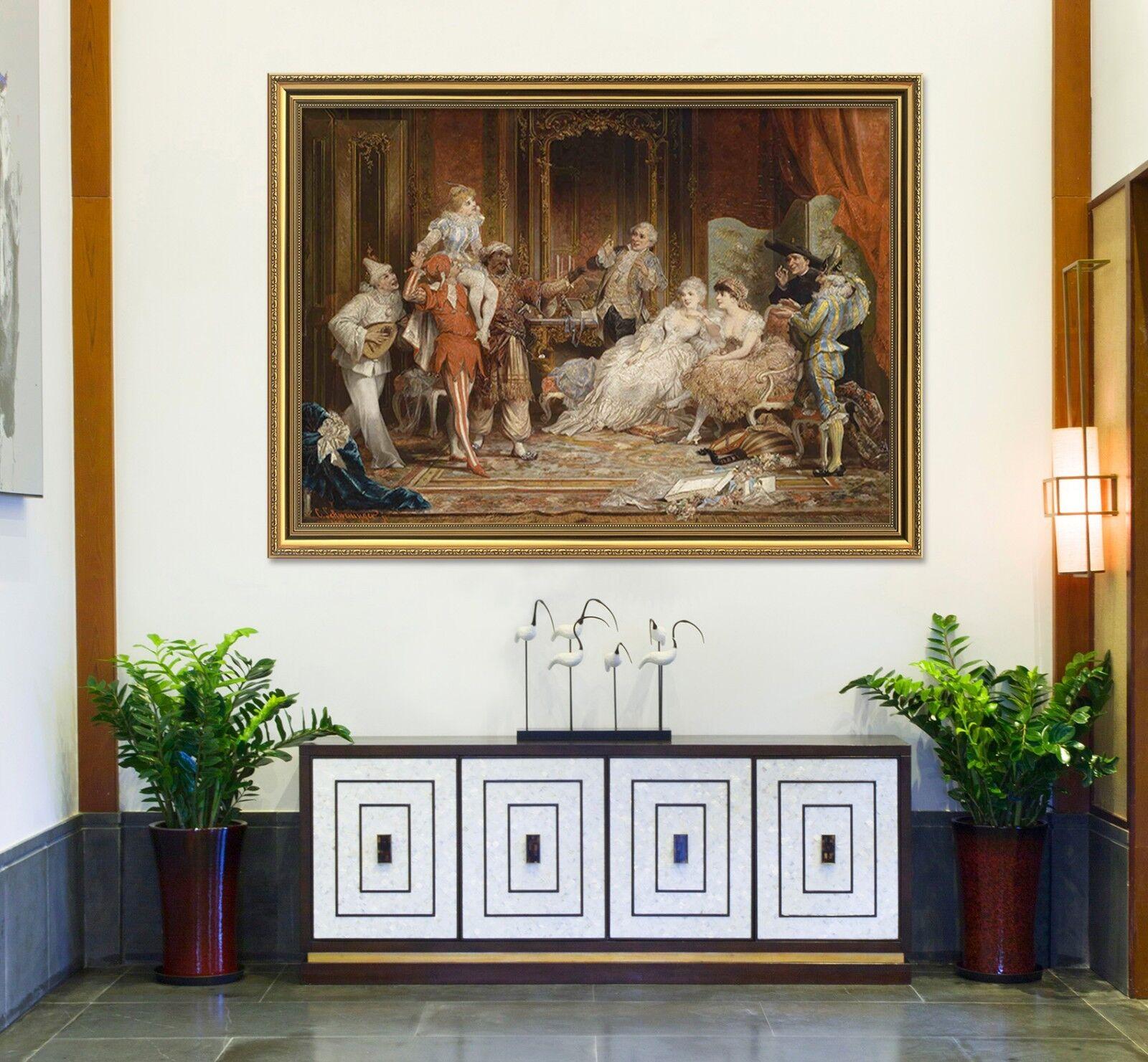 3D Royal Circo Europa 2 Póster Enmarcado Decoración del Hogar Pintura de Impresión Arte Wallpaper