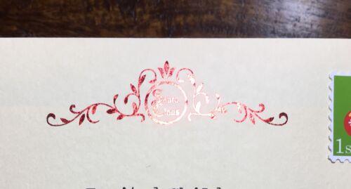 Personalised Santa Letter Handmade Luxury Christmas Eve Box Vintage Foiled