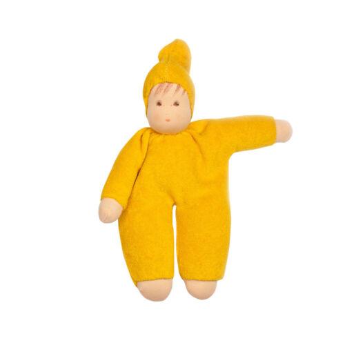 """Nanchen /""""Schmuse-Puppe/"""" Bio-Baumwolle//Bio-Schurwolle 22 cm"""