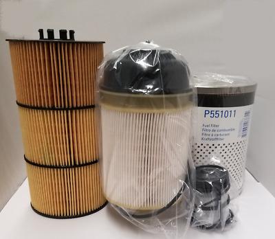 Detroit DD13 /DD15/ DD16 Filter Kit- Oil, FWS & 2 Fuel Filter Kit Donaldson  | eBay