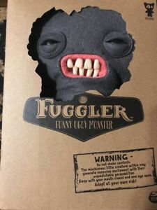 New-Spin-Master-FUGGLER-Mrs-McGettricks-Funny-Ugly-Plush-Teeth-Grey-Monster