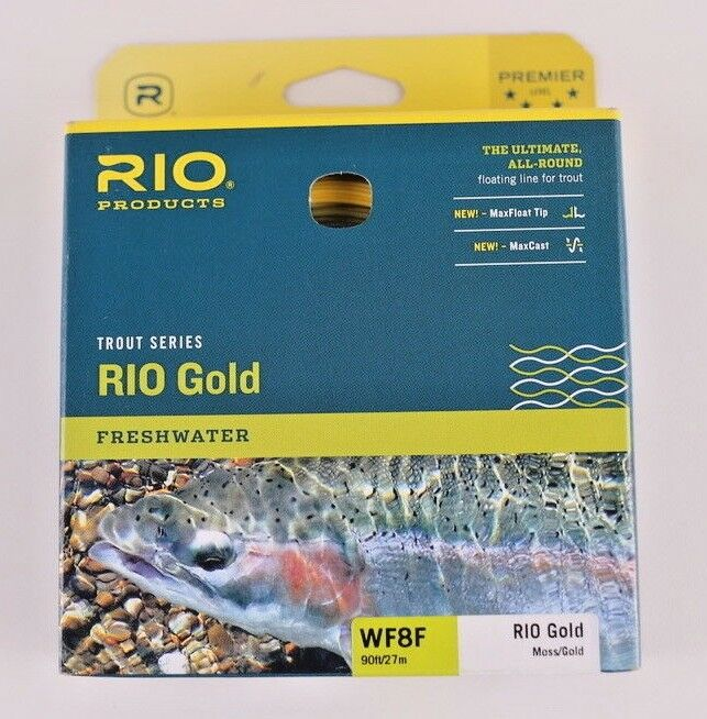 Rio gold Fly Line WF8F Moss gold Free Fast Shipping 6-21232