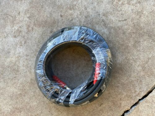 Details about  /pressure washing 2 wire hose black WITH 3//8 fittings 6800 PSI !! 100 ft