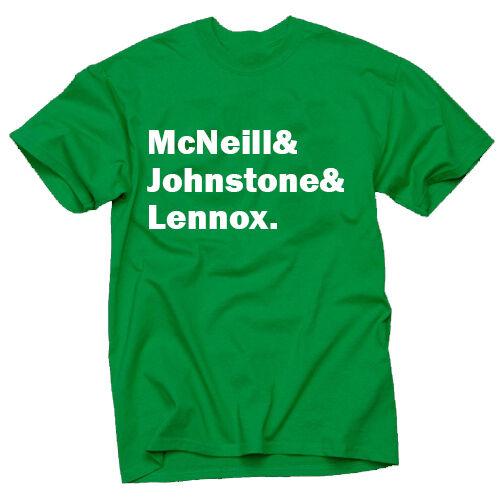 CELTIC FOOTBALL CLUB LEGENDS LISBON LIONS MCNEILL JOHNSTONE LENNOX T SHIRT