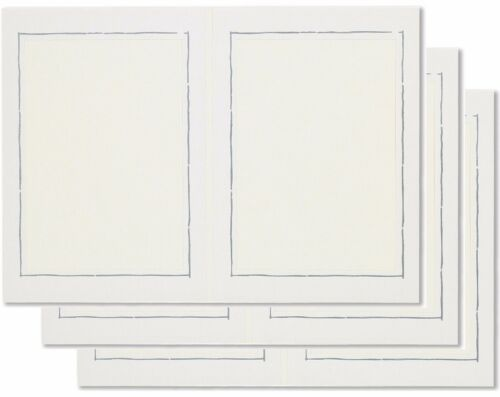 ♛ 3 Stück  2-seitige Leporellos, Bildformat 13 x 18 cm, Silberrand, Fotoalbum  ♛