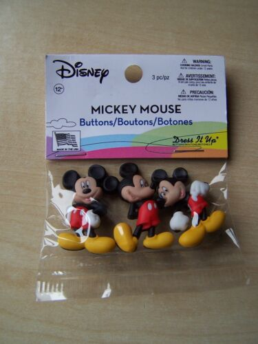 DRESS IT UP BUTTONS MICKEY MOUSE 3 PIECES DISNEY
