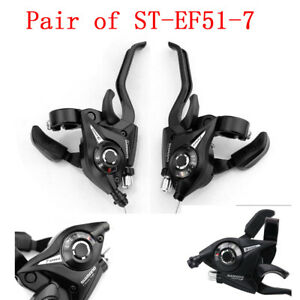 1 Pair ST-EF51-7 Gear 3 x 7 Speed Brake Shifter Combo Lever V-Brake Bike Bicycle