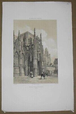 Durable In Use Motivated Gravur Portal Des Der Kirche Von Louviers eure