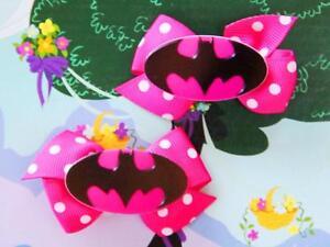 DC-Super-Hero-Girls-Batgirl-Batwoman-Inspired-Costume-Dress-Handmade-Hair-Clips