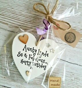 70th Birthday Gift Ideas Image Is Loading Auntie Aunty Sister 18th 21st 30 40 50