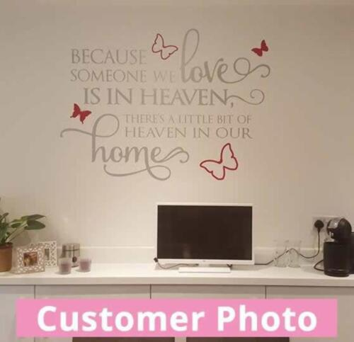Butterfly Heaven Wall Sticker Wall Chick Decal Art Sticker Quote