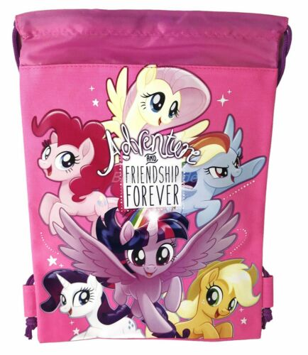 My Little Pony Light Pink Drawstring backpack School Sport Gym Tote Bags