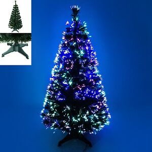 3ft 4ft 5ft Green Fibre Optic Christmas Tree Multicoloured Image
