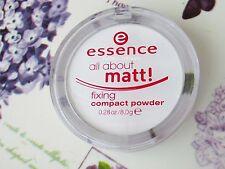Nuevo esencia todo sobre Matt fijación Compacto Transparente polvo presionado Control De Aceite
