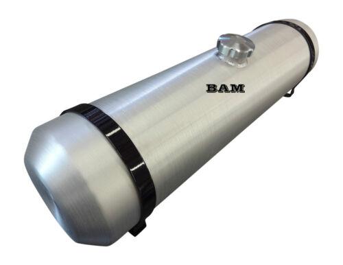 8x30 Center Fill Spun Aluminum Gas Tank 6 Gallon 3//8 NPT Offset Outlet Bung
