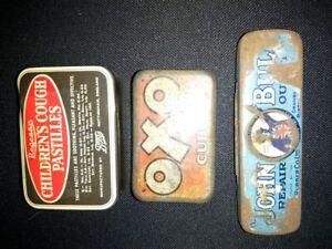 Vintage Tins, John Bull, OXO, Regesan Pastills.