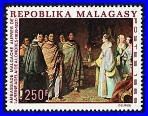 MADAGASCAR-1969-PAINTING-QUEEN-ADELAIDE-SC-422-MNH-CV-4-75-COSTUMES