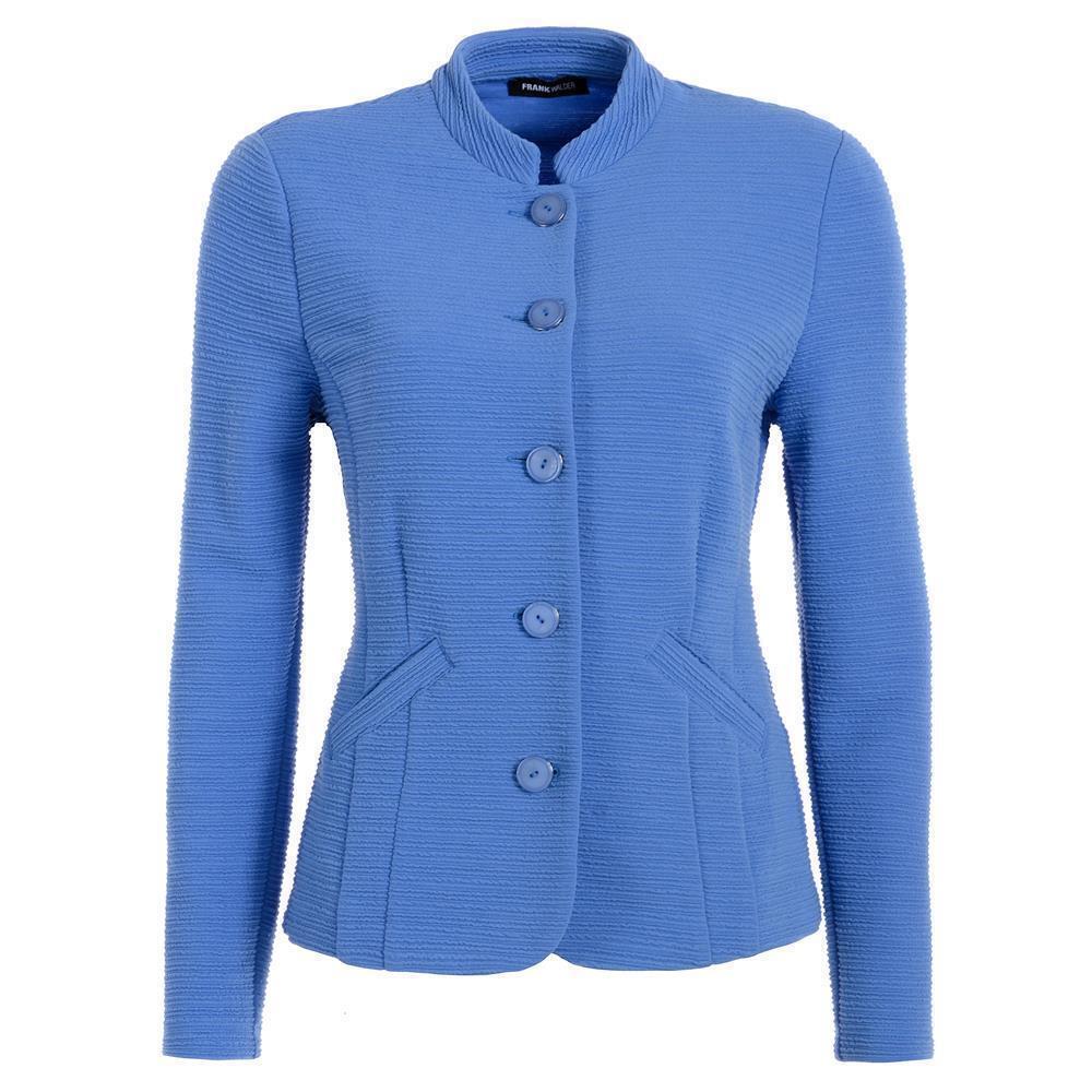 Frank walder señora ligeramente chaqueta  Blazer en azul claro Stretch  tienda de venta