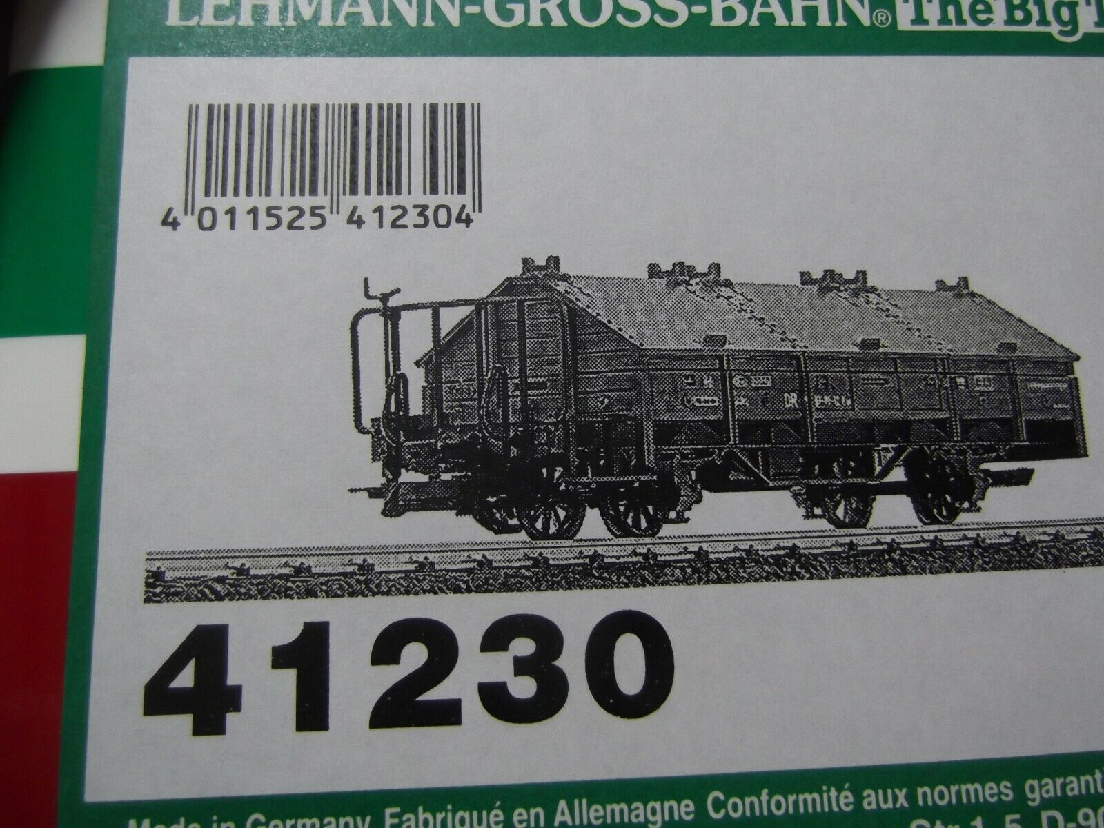 LGB 41230 DR Marronee KLAPENDECKER COVErosso GOODS LIME WAGON