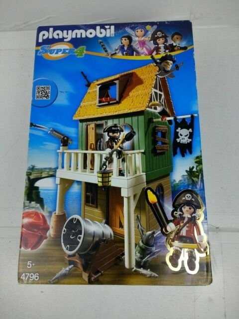4796 Playmobil Super4 - Camouflage Pirate Fort with ruby