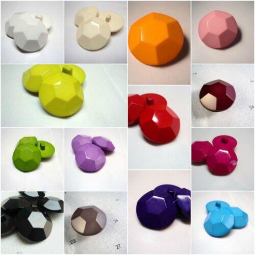 large en forme de diamant effet plastique solide italien boutons-couleurs B942-30mm-5pcs