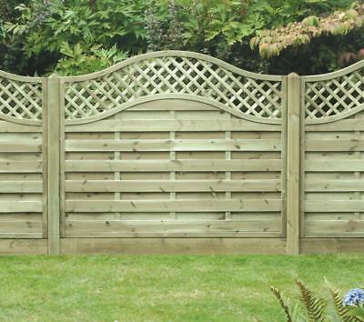European Omega Lattice Top Decorative Fence Panel 6ft x 5ft Pressure  Treated | eBay