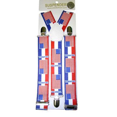 Caritatevole Bandiera Americana Bretelle Usa Stelle E Strisce Stati Uniti Patriottico Luglio Ulteriori Sorprese