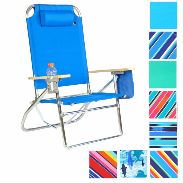Cool Extra Large High Seat 3 Pos Heavy Duty Beach Chair W Drink Holder Home Interior And Landscaping Ferensignezvosmurscom
