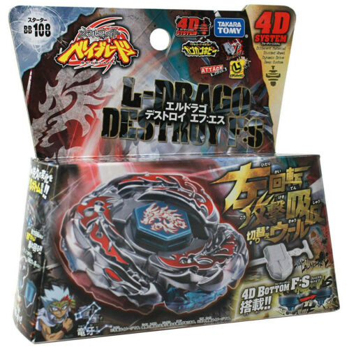 GENUINE Takara Tomy L-Drago Destroy BB-108 Destructor F:S Beyblade STARTER SET