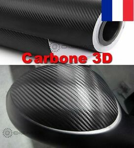Film-Vinyle-3D-Carbone-Thermoformable-Sticker-Adhesif-Autocollant-152X50-CM-Noir