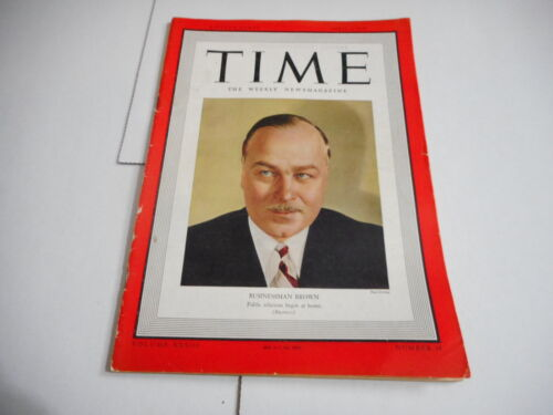 APRIL 3 1939 TIME vintage magazine BUSINESSMAN BROWN