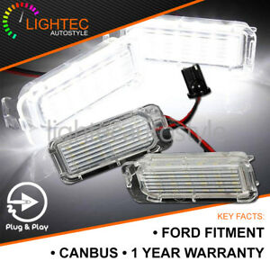 2x-LED-XENON-WHITE-LICENSE-NUMBER-PLATE-LIGHT-LAMP-BULB-FORD-FIESTA-FOCUS-MONDEO