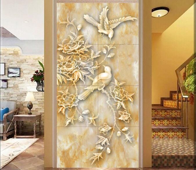 3D Art flowers Birds 7 Wall Paper Murals Wall Print Wall Wallpaper Mural AU Kyra