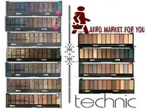 Technic-Eyeshadow-12-Shades-Palette-Mega-Nude-Smokey-2-3-4-Sultry-Eye-Makeup-New