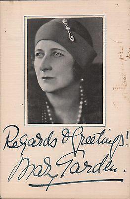 Original Vintage Handsigned Photograph Scottish Soprano Mary Garden