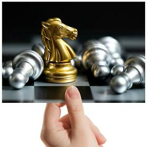 Golden-Knight-Chess-Player-Small-Photograph-6-034-x-4-034-Art-Print-Photo-Gift-16163