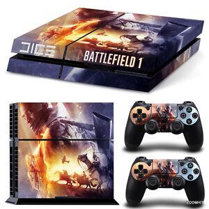ps4 playstation 4 console skin decal sticker battlefield 1. Black Bedroom Furniture Sets. Home Design Ideas