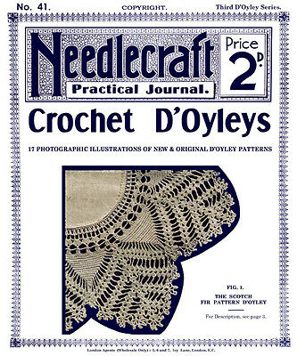 Needlecraft Practical Journal #30 c.1903 Charted Patterns  for Cross Stitch