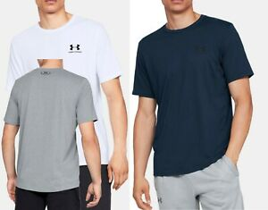 Men-039-s-Under-Armour-Sportstyle-Left-Chest-Short-Sleeve-tee-Shirt
