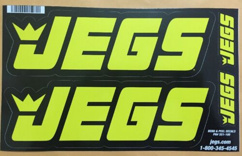 Original JEGS Contingency Racing Decals w// 2 Toolbox Size