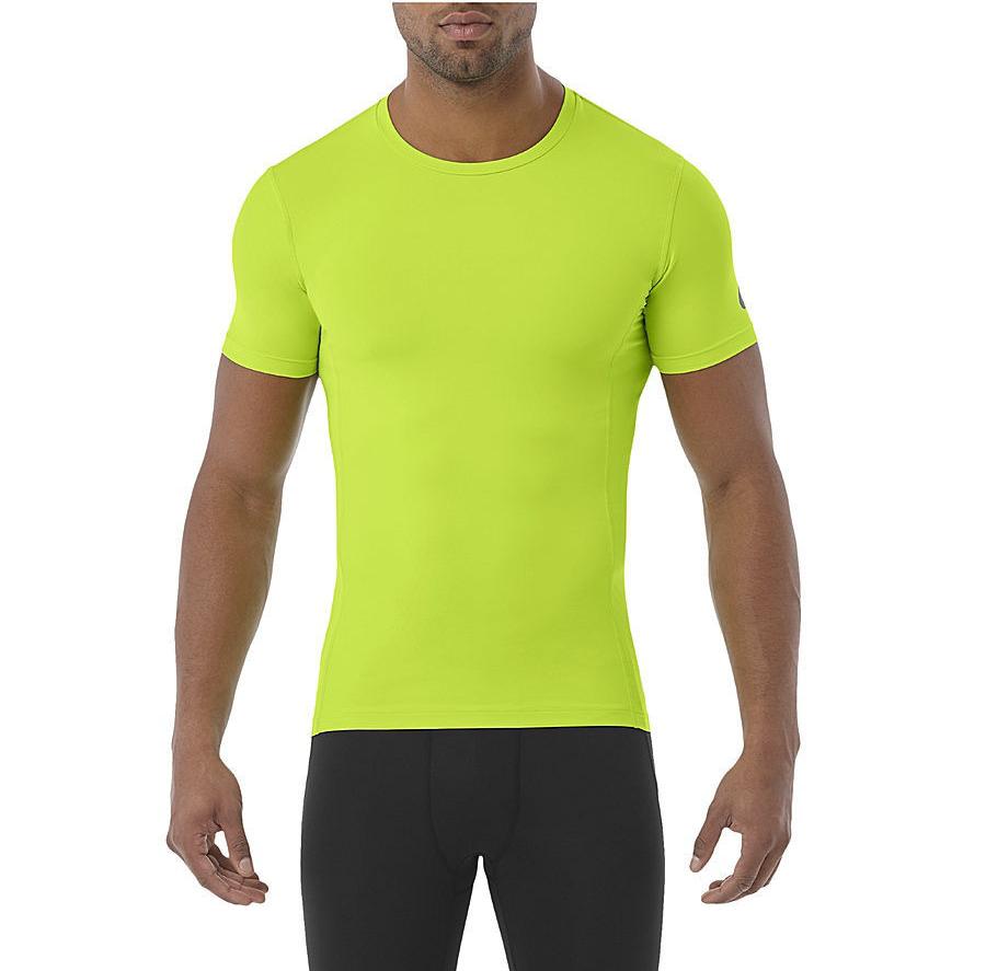 ASICS Men's Running T-Shirt Sports Baselayer Top T-Shirt - Energy Green - New