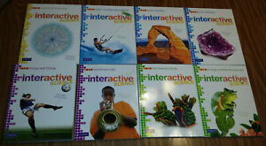 Lot-of-8-Pearson-Interactive-Science-Grade-6-7-8-Worktexts-Workbook-Set-New