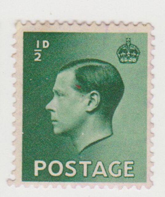 (GBD156) 1937 GB ½d green Edward VIII (B)