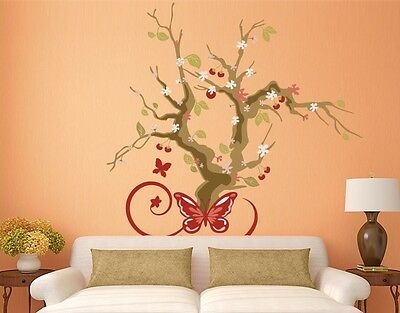 Cherry Blossom Tree Wall Decal, Floral Decals, sticker, mural