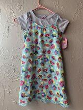 Disney/'s Frozen Girls Dress Poppy French Terry Dress W Shirt X-Small 4-5 NEW