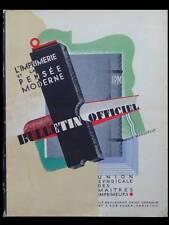 L'IMPRIMERIE ET LA PENSEE MODERNE - NOEL 1928 - TYPOGRAPHIE, BULLETIN OFFICIEL
