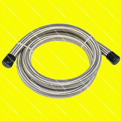 """AN6 6AN 8.7MM 11/32"""" DOUBLE BRAIDED STAINLESS STEEL CPE HOSE ETHANOL RESISTANCE"""