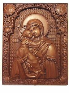 Image Is Loading Wood Carving Mahogany Mother Of With Baby